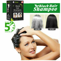 10PCS Instant Hair Dye Dexe Black Hair Shampoo Only 5 Minutes Easy to Use