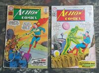 2 Action Comics #294 #291 Comic Books Lot CU