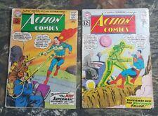 2 Action Comics #294 #291 Comic Books Lot CU