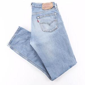 Vintage LEVI'S 501 Blue Denim Regular Straight Jeans Mens W36 L36