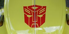 "Red Bumblebee VW Transformers Autobot Logo 12"" Decal Car Sticker *other sizes"