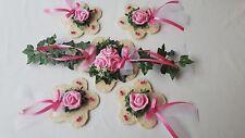 Tischdekoration pink rosa 5 tlg. Konfirmation Kommunion Hochzeit Tischdeko
