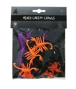 Pack Of Mixed Creepy Crawlies Prop Insects Halloween Bugs Party Decorations New
