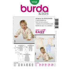 Burda Very Easy SEWING PATTERN 9782 Baby Sleepsuit & Sleeping Bag 3M-2Y
