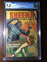 Sheena Queen of the Jungle #8 (1950) - Golden Age! - CGC 7.5! - High Grade!