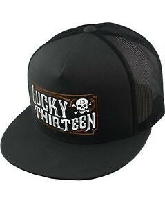 Lucky 13 The Saloon Biker Two-Tone Poplin Mesh Snaback Adjustable Hat LCSB5SA