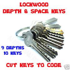 Depth & Space Key Set (10 Keys) for Lockwood LW4, C4  Depths 0-9