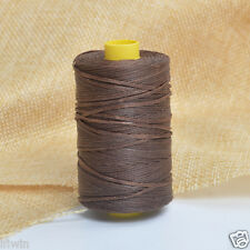 Coffee 109yrd 1mm Flat Sewing Waxed Leather Nylon Thread For Craft Upholstery US