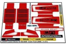 Lego® Custom Pre-Cut Sticker for Technic set 8258 - Crane Truck (2008)