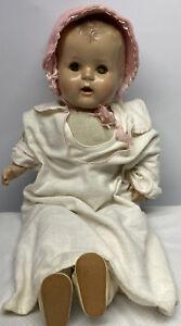 """Vintage 24"""" Sleepy Eye Doll With Teeth For Parts Or Repair"""
