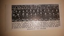 Middlebury Vermont College 1920 Football Team Picture