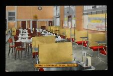 1940s Interior Sarres Restaurant Western Meats One North Main Street Ocala FL PC