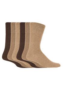 Gentle Grip - 6 Pack Mens Non Binding Cotton Diabetic BIGFOOT Socks 13-15 US