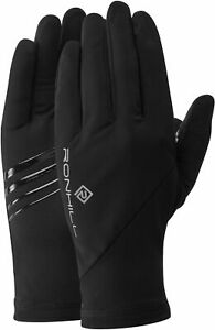 Ronhill Wind Block Running Gloves - Black - Size Small - *NEW*