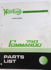 Norton Motorcycles 750 Commando Parts List