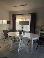Esstisch mit Auszugfunktion oval Küchentisch Esszimmertisch Tisch weiß