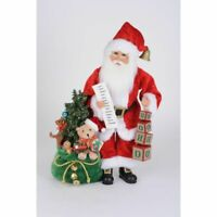 Karen Didion Originals Lighted HoHoHo Santa Figurine, 19 Inches