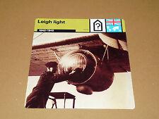 LEIGH LIGHT U-BOOTE 1942-1945 RAF ENGLAND AVIATION FICHE WW2 39-45