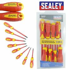 Sealey Premier VDE Electricians Screwdriver Set Tool Electrical Fully Insulated