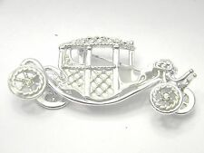 AJC Fabulous OLD Car Figural Rhinestones Vintage Jewelry Pin