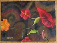 CALLA LILY FLORAL GARDEN FLOWER STILL LIFE BOTANICAL LISTED CA ARTIST PAINTING