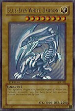 1x (HP) Blue-Eyes White Dragon - SDK-001 - Ultra Rare - Unlimited Edition  YuGiO