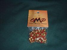 OMP Bow STRING NOCKING POINTS -Brass w/ Red insert - 100pk-String Nock Nok Set