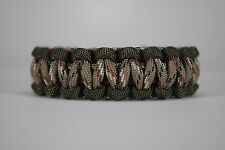 550 Paracord Survival Bracelet Cobra OD Green/Desert Camo Camping Tactical