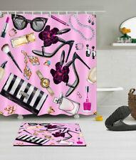 High Heels Ladies Supplies Shower Curtain Hook Bathroom Mat Waterproof Fabric
