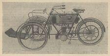 Y7981 Tricycle Tandem a moteur BRUNEAU - Pubblicità d'epoca - 1904 Old advert