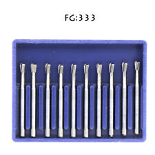 10pcs Dental Super Carbide Burs Fg330 Friction Grip Midwest Type High Speed