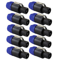10pack NL4FC Professional 4 Pin Plug Male Audio Speaker Cable End Connectors New