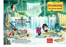 Publicité Advertising 127  1995   McDonald's   (2p ) Pocahontas W. Disney