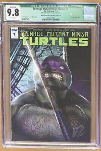 TEENAGE MUTANT NINJA TURTLES #1 IDW TMNT BOSSLOGIC signed DONATELLO LTD 250 COA!