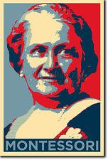 Maria Montessori Arte Foto Print (Obama esperanza) Cartel De Regalo de la educación alternativa