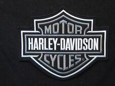 "Harley Davidson Bar & Shield Gray Patch ""Large"""