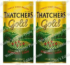 Thatchers Cider 2 x Beer Can Labels for Cake  & Cupcakes, Edible Icing