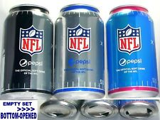 2017 NFL PEPSI DIET+MAX+WILD CHERRY COLA SODA CANS LIMITED EDITIONS PRO FOOTBALL