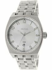 Nixon Women's Monopoly A3251874 Silver Stainless-Steel Plated Japanese Quartz...