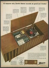 ZENITH Model Y960W the Lind - High Fidelity Stereo System- 1968 Vintage Print Ad