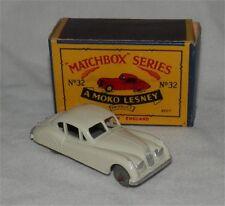 1950s.MOKO..LESNEY.MATCHBOX.32.Jaguar.XK 140.Metal Wheels.Mint in box.original