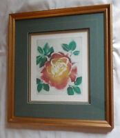 C. Heineman Framed Art Print ROSE Signed & Numbered Picture Frame