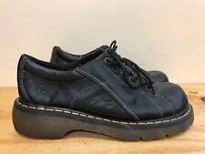 Dr Martens Women Black  Leather Oxford Shoes US Size 10 Flowers 12283 UK 8