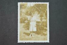 Unusual Vintage Polaroid Type 40 Sepia Photo Woman & Scratch Marks 972009