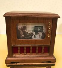 Dollhouse Miniature Old Time Television