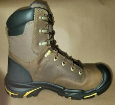 "Keen Utility Mt Vernon 8"" USA MADE Steel Toe Brown Leather Work Boot Size 8.5 D"