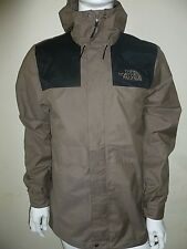 THE NORTH FACE CHAMELEON RAIN JACKET LONG FALCON BROWN MENS SIZE M NEW NWT