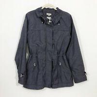EUC Bobby Jones Water Resistant Cinch Waist Steel Blue Gray Jacket Wms Medium