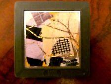 Vintage Signed REAUX 1987 Brooch GEPE Sweden Modernist Abstract Slide Art Pin