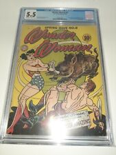 Wonder Woman #8 1944 CGC 5.5 Rare High Grade FREE SHIPPING DC Comics